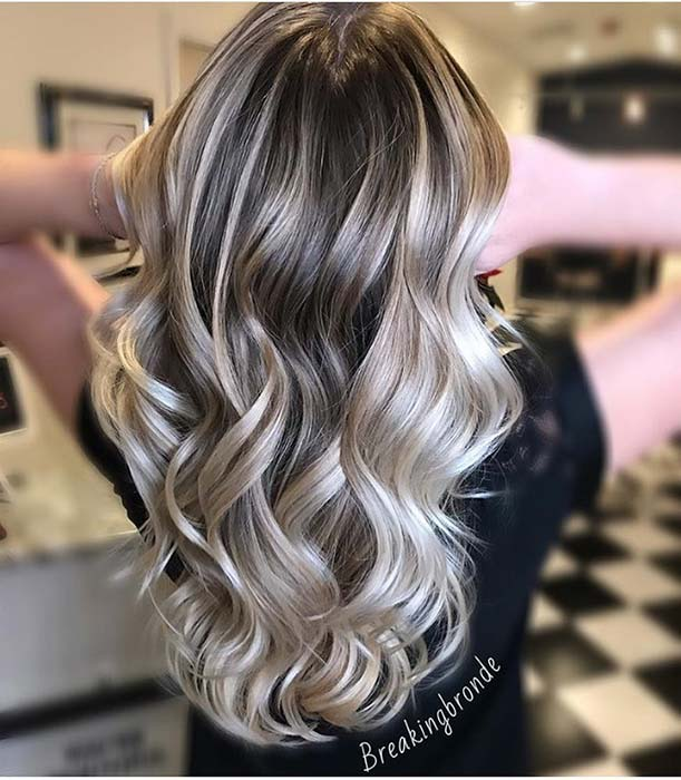 Glam Blonde Hair Idea