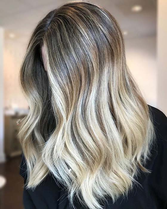 Glam Light Blonde Ombre Hair