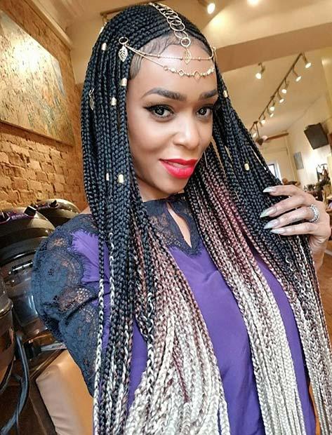 Glam and Unique Fulani Braids