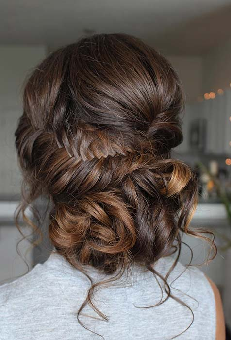 Gorgeous Braided Updo Idea