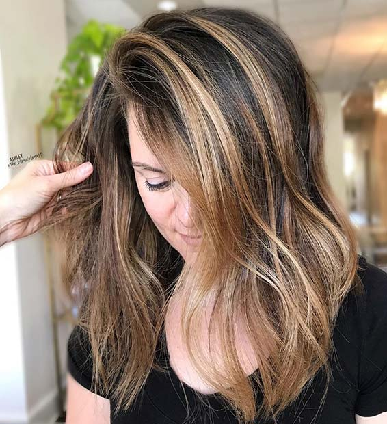 Light and Honey Blonde Highlights