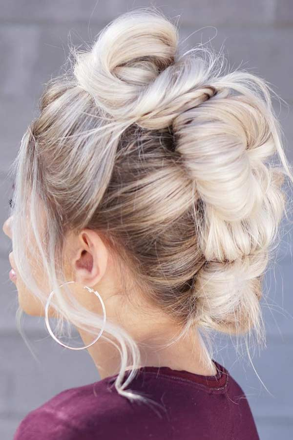 Messy and Edgy Updo Idea