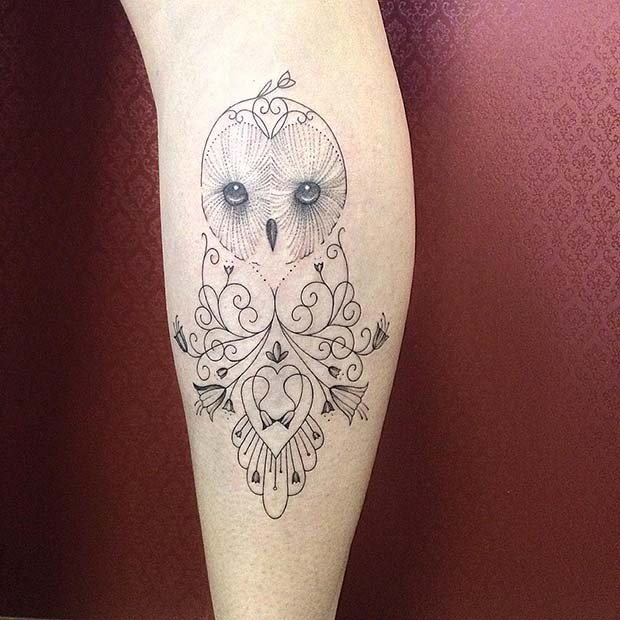 Simple Patterned Owl Design