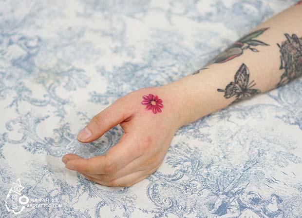 Pretty Flower Tattoo Idea