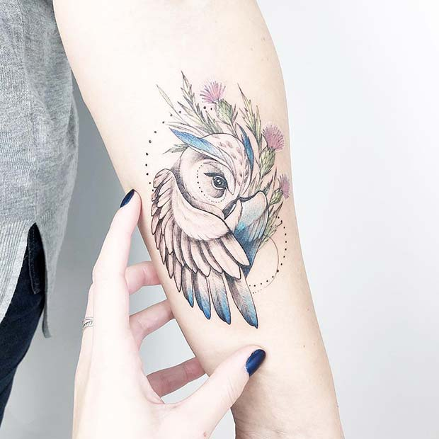 Pretty and Delicate Owl Design