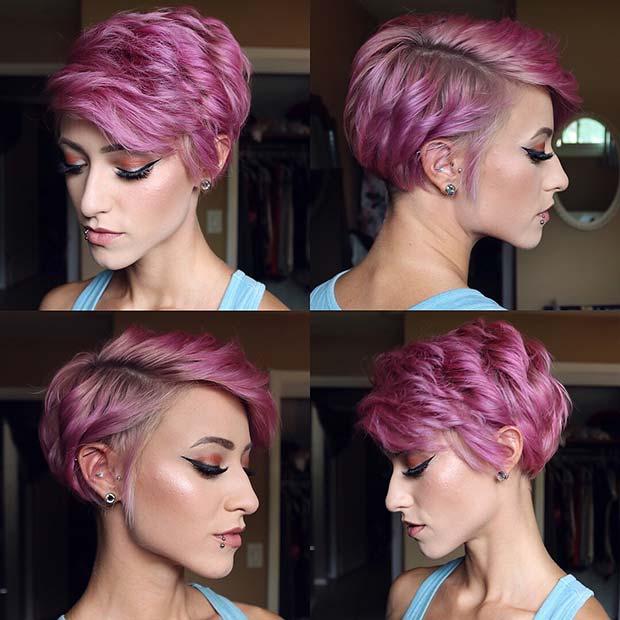 Purple Short Cut
