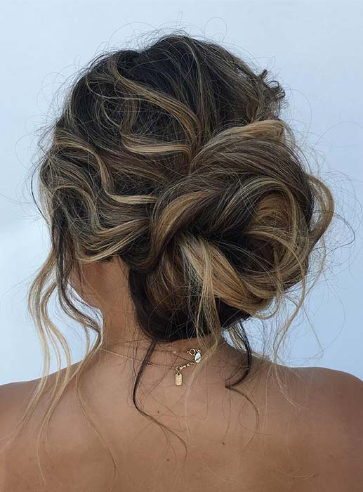 Relaxed, Messy Bun Updo