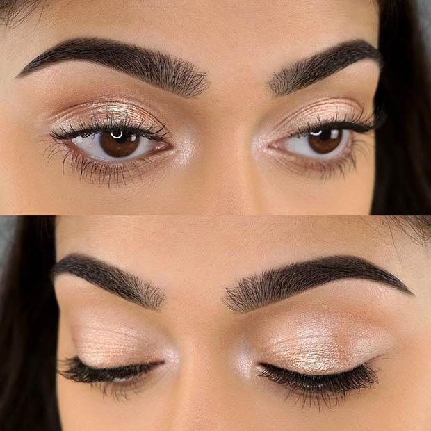 Shimmery Natural Eye Makeup Look