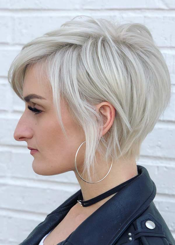 Short Blonde Layered Haircut