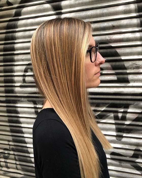 Sleek Caramel Hair