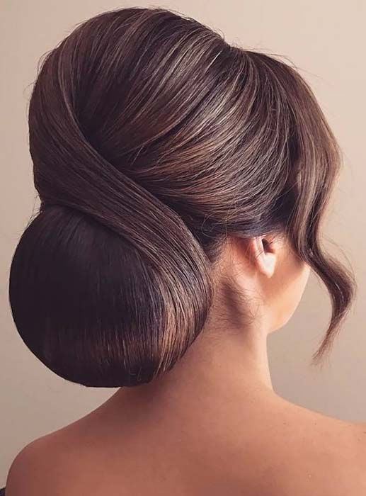 Sleek and Formal Chignon Updo