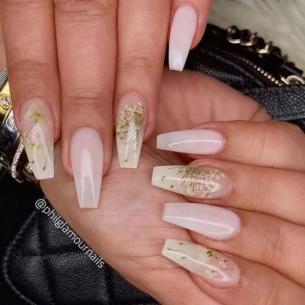 Stunning Floral Nail Art Idea