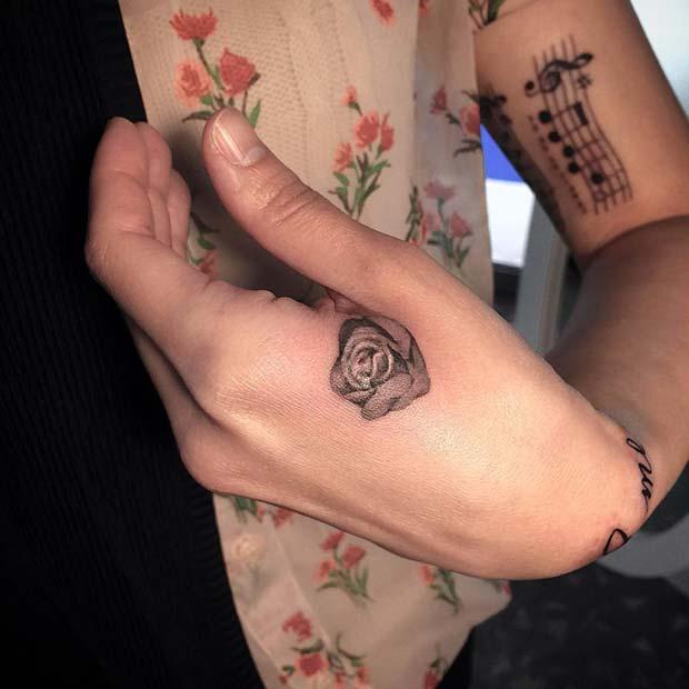 Stylish Rose Tattoo Idea