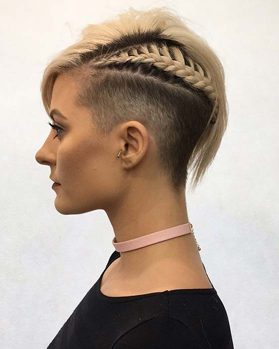 Stylish Undercut and Braid
