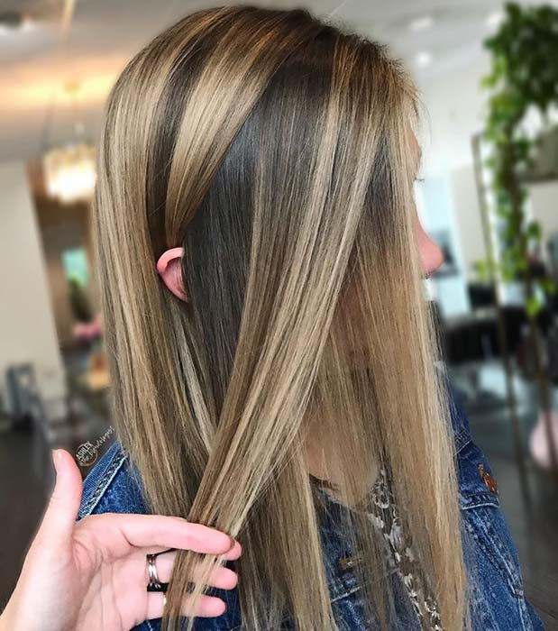 Stylish and Easy to Wear Blonde Highlights