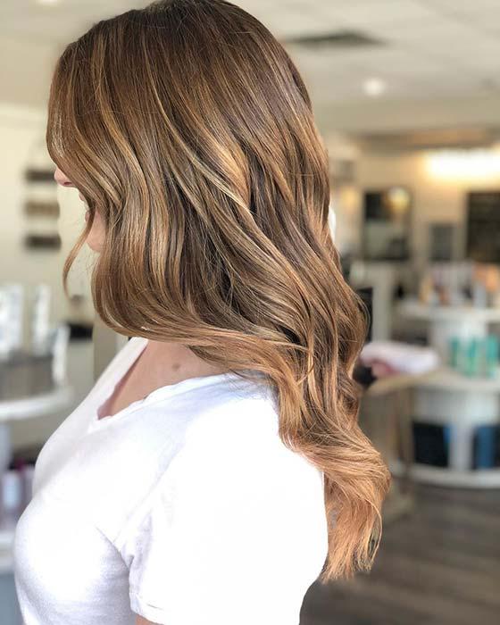Subtle Caramel Hair Color Idea