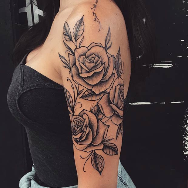 Three Roses Arm Tattoo Idea