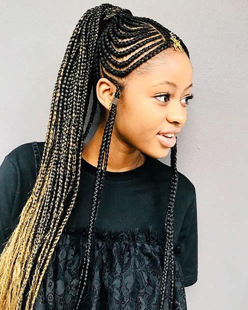 Trendy Fulani Braided Ponytail