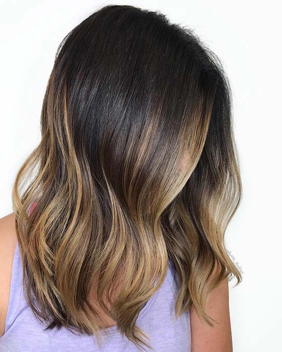 Trendy Hairstyle with Caramel Color