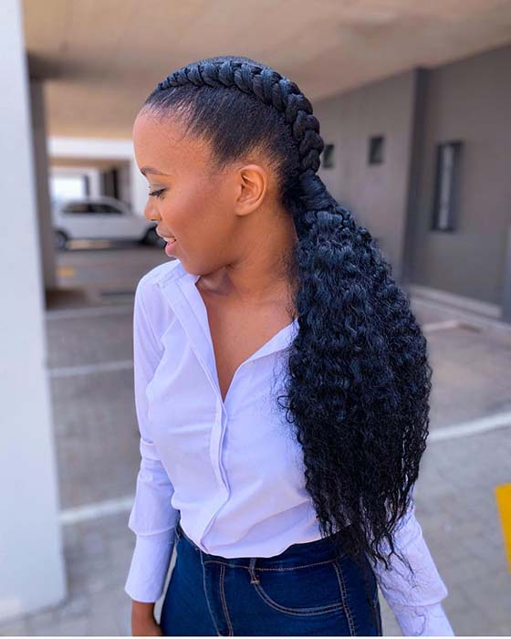 Two Braid Weave Hairstyle
