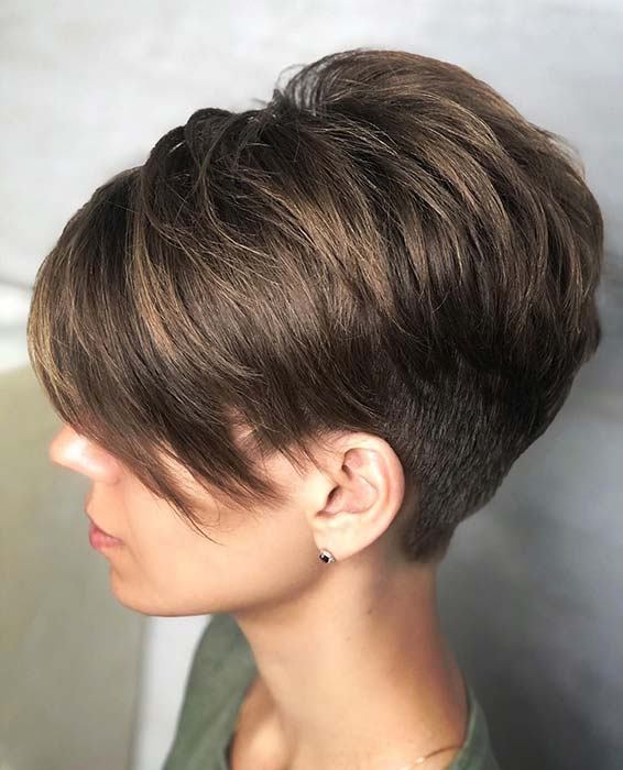 Short Haircut with an Undercut