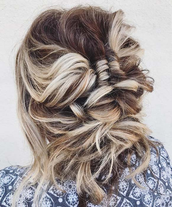 Cool and Messy Updo Idea