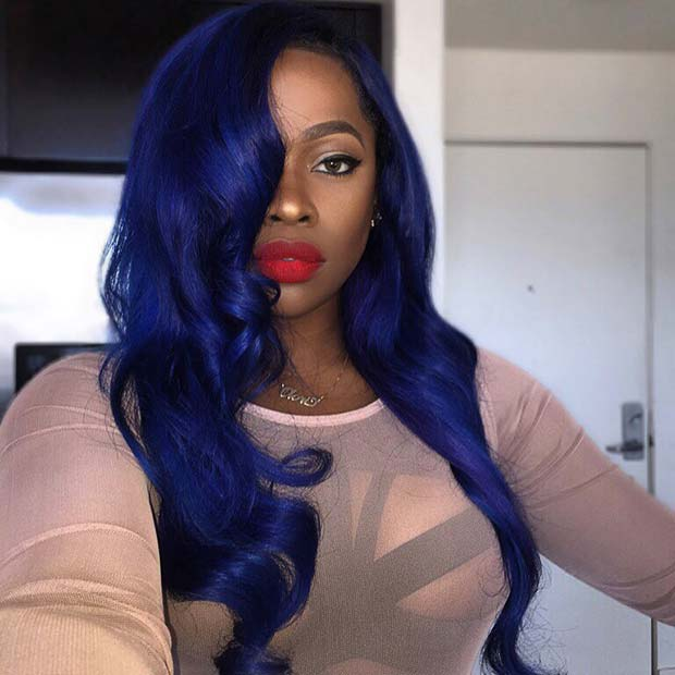 Vibrant Blue Weave Idea