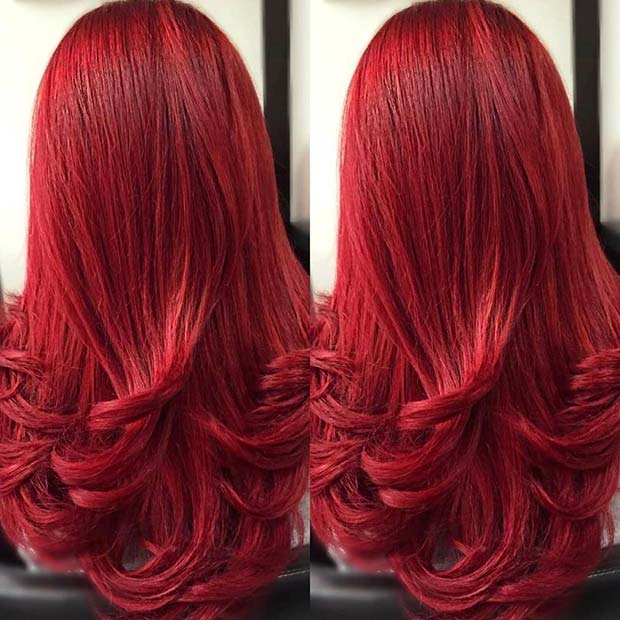 Vivid Red Hair Idea