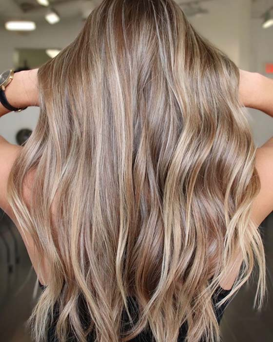 Warm Blonde Highlights Idea