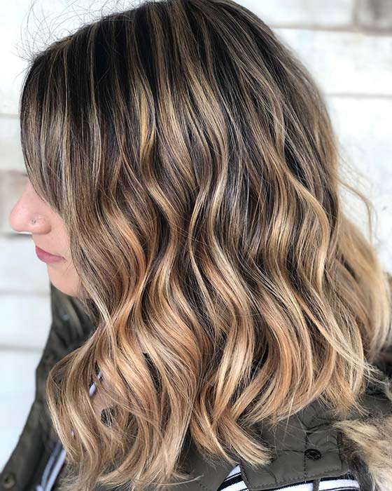 Warm and Stylish Blonde Highlights