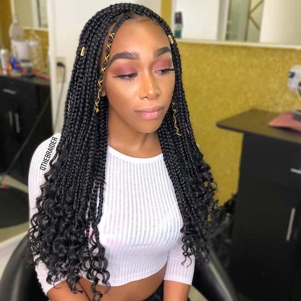 25 Trendy Goddess Box Braids Hairstyles Stayglam