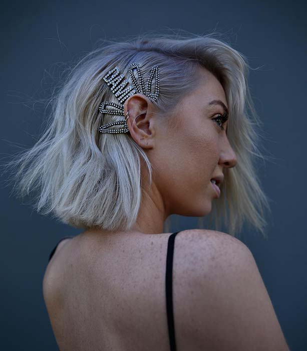 Accessorized Short Hairstyle
