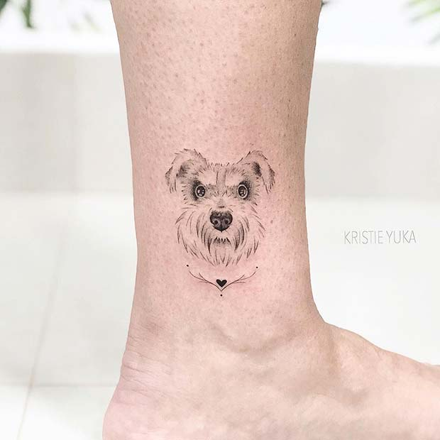 Adorable Dog Tattoo Idea