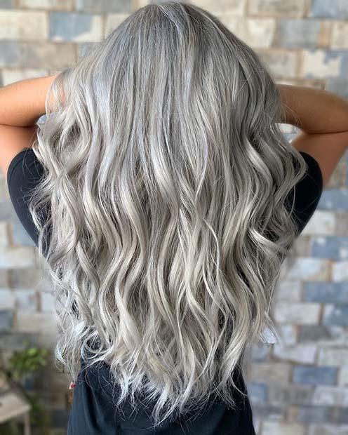 Grey Beach Waves