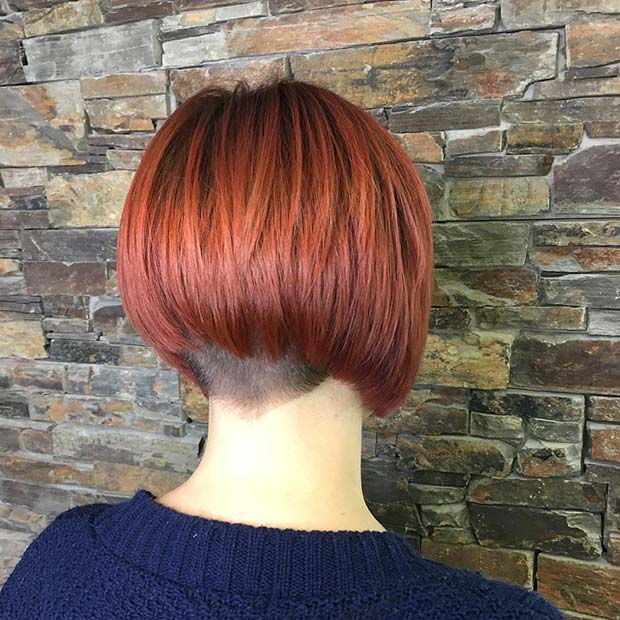 Spicy Red Short Bob