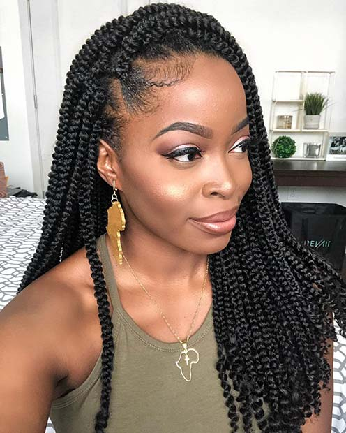 Crochet Box Braids with Curly Ends