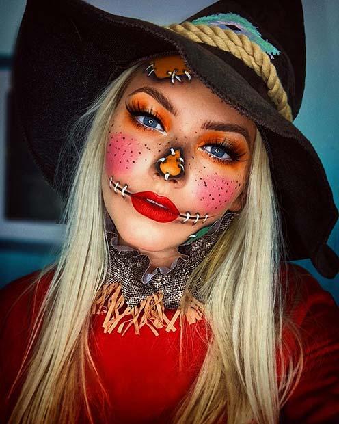 Bright Scarecrow Makeup