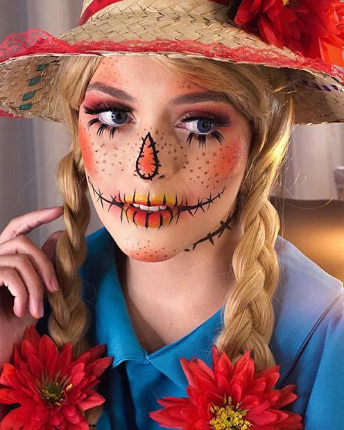 Bright and Pretty Scarecrow Idea