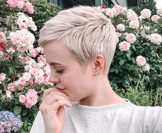 Chic Blonde Pixie Cut