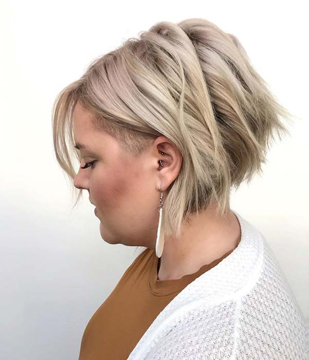 Blonde Bob with a Subtle Undercut