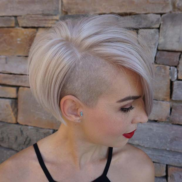 Shaved Bob Hairstyle