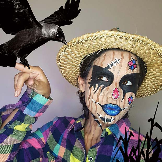 Scarecrow Makeup and Costume Idea