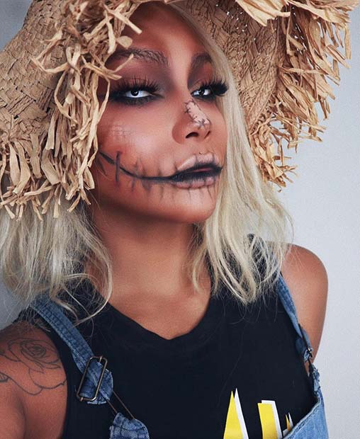 Creepy Scarecrow Makeup and Costume