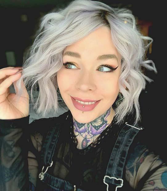 Cute Grey Short Cut