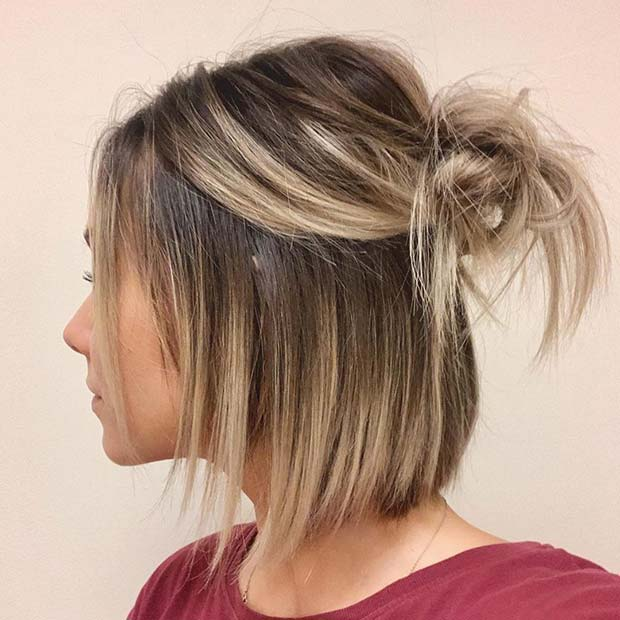 Half Updo for Short and Fine Hair