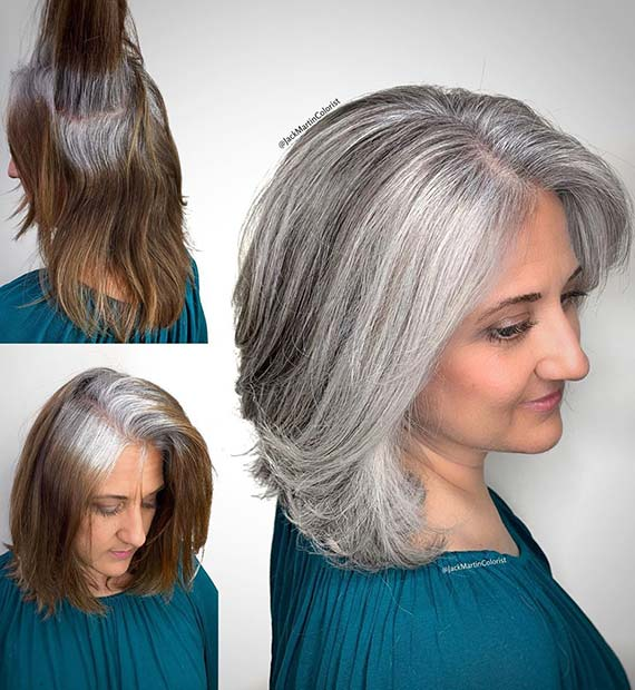 Easy to Maintain Grey Hairstyle