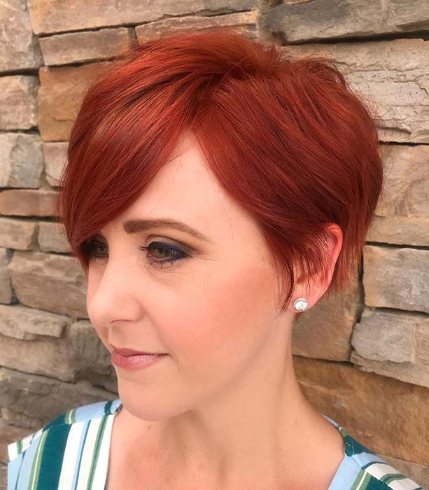 Fiery Short Cut for Fine Hair