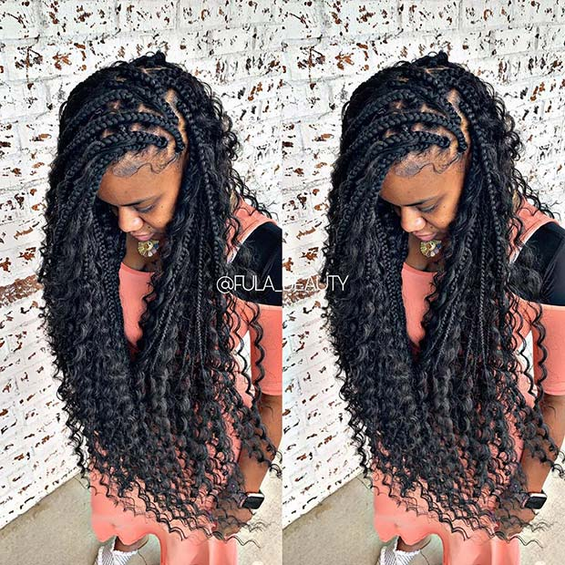 45 Trendy Goddess Box Braids Hairstyles Stayglam
