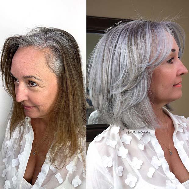 Glam Grey Hair Idea
