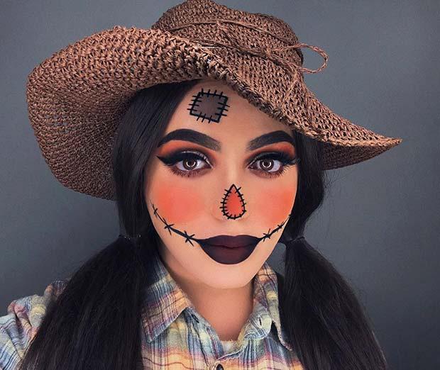 Glam Scarecrow Makeup